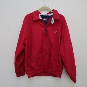 Womens VINTAGE Tommy Hilfiger Red Jacket Size XL